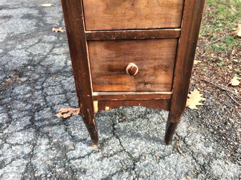 narrow side table with drawers narrow wooden three drawer end table nightstand