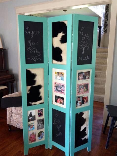 diy frame repurpose teal cowhide chalkboard