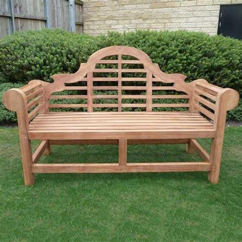 curved teak benches gardens garden ftempo