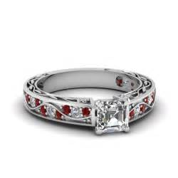 asscher engagement ring shop for exclusive side engagement rings fascinating diamonds