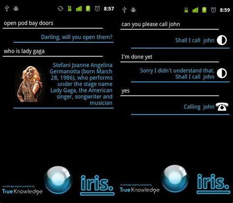 siri for android iris app is siri for android