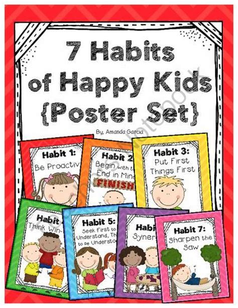 Printables free colouring pages learning worksheets. Leader In Me: 7 Habits Posters Happy Kids from Sweet and Neat Printables on TeachersNotebook.com ...