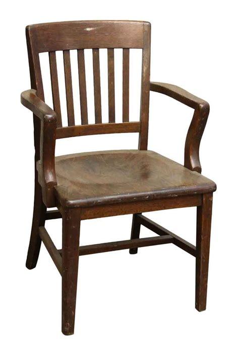 wood banker chair olde things
