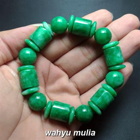 batu giok dijual gelang batu giok jade hijau asli kode 904 wahyu mulia