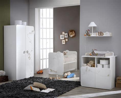 chambre bébé complète contemporaine blanche woody