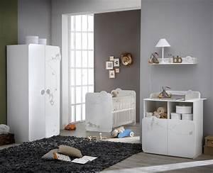 chambre bebe complete contemporaine blanche woody With déco chambre bébé pas cher avec livraison de muguet