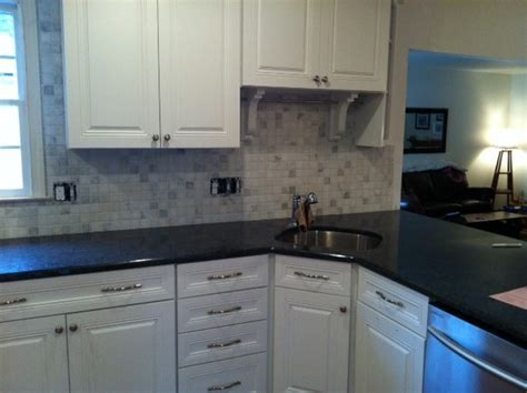 Black Ash granite tops   Traditional   Kitchen