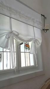 Raffrollo Landhaus Shabby : raffrollo shabby chic la vague gardine 90 110 130 150 ~ Watch28wear.com Haus und Dekorationen