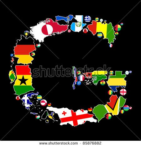 flag maps and flag badges of all the countries in the