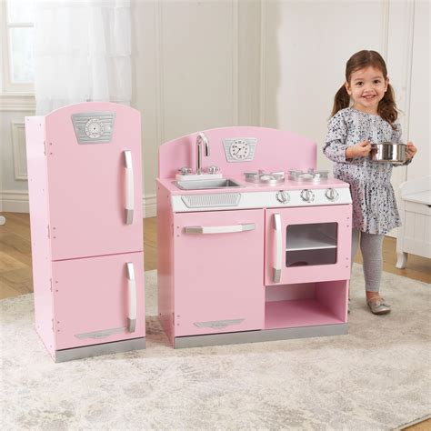 kidkraft vintage kitchen pink kidkraft retro kitchen and refrigerator in