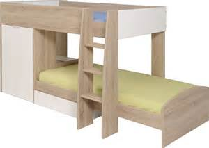Luxury Bedroom Design by Parisot Stim Bunk Bed With 2 Door Wardrobe