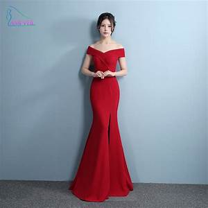 aliexpresscom buy mermaid designer evening gowns side With robe de gala rouge