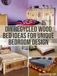18, Diy, Recycled, Wood, Bed, Ideas, For, Unique, Bedroom, Design, U2013, Decorathing