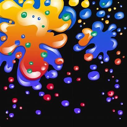 Paint Splatter Background Neon Penguin Club Painting