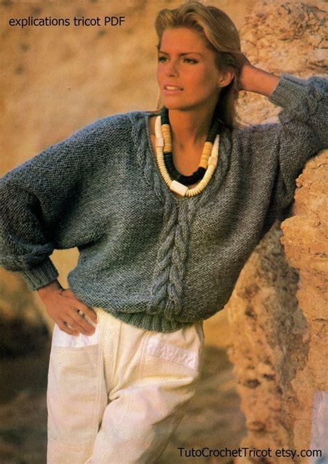 patron tricot pull torsade femme mod 232 les et patrons pull femme torsades modele tricot pull 224