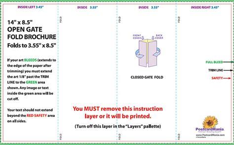 Parallel Fold Brochure Template Templates Parallel Fold Brochure Template 85 X 14 Tri Fold Brochure