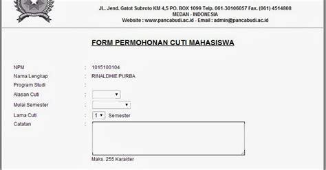contoh format surat cuti kuliah akuntt