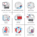 business analyst marketing icon vector set stock vector illustration of forecast graphic