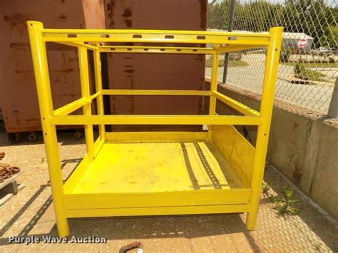 shop built forklift basket item da sold july