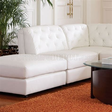 coaster leather sectional sofa quinn sectional sofa 6pc white bonded leather 551021 coaster