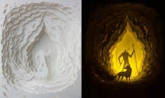 enchanting  light box dioramas  hari deepti