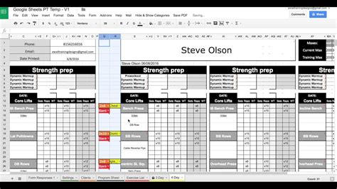 workout templates for personal trainers sheets personal templates exercise dropdowns