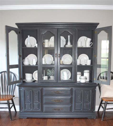 Hutch Painting Ideas by Chalk Paint Hutch Makeover With A Restoration Hardware