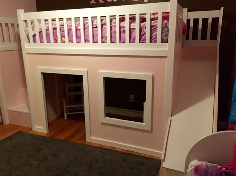 ana white playhouse loft bed  stairs   diy