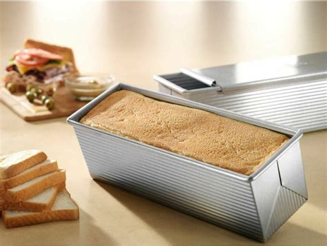 bread baking pan loaf lid cake pullman baked bakeware oven