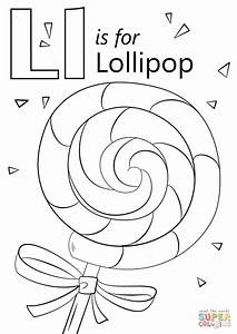 Click The Letter L Is For Lollipop Coloring Pages To View