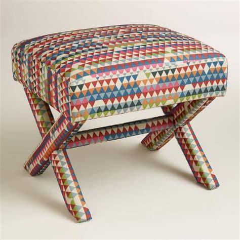 Upholstered Stools For Living Room by Park Brendan Upholstered X Base Stool World Market