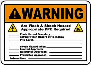 arc flash labels arc flash warning labels With arc flash and shock hazard