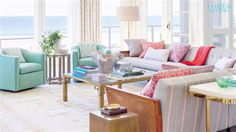 Cape Style Home Decorated Classic Color And Pattern by 40 Beautiful Beachy Bedrooms Coastal Living