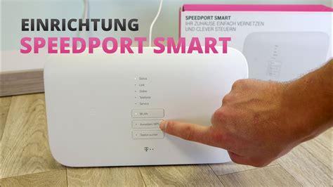 speedport smart einrichten telekom router anschliessen