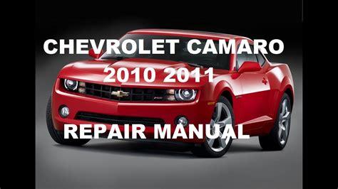 service repair manual free download 1973 chevrolet camaro parking system chevrolet camaro 2010 2011 repair manual youtube