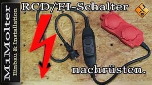Fi Schalter Anklemmen : rcd fi schalter nachr sten am kabel nachr sten von ~ A.2002-acura-tl-radio.info Haus und Dekorationen