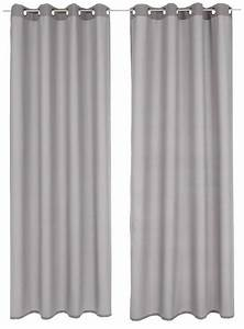 ösen Gardinen Grau : 2 st vorhang gardine 140 x 175 silber grau deko schal blickdicht sen neu ebay ~ Frokenaadalensverden.com Haus und Dekorationen