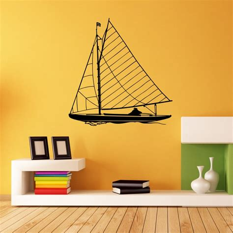 Sailing Boat Wall Stickers by Sailing Boat Vinyl Wall Stickers By Artollo