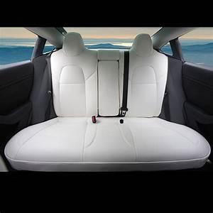 Custom White Seat Cover for Tesla Model 3 2016-2019 PU Full Cover Cushions | eBay