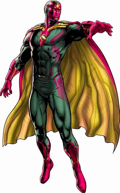 Vision Marvel Avengers Transparent Background Comic Comics