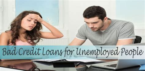 Bad Credit Loans With Fresh Deal For Unemployed People