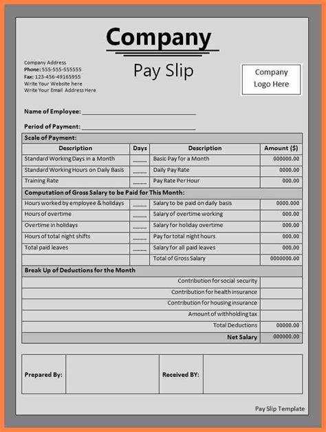 sample  salary voucher salary slip