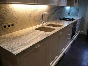 Plan De Travail Marbre Noir : plans de travail de cuisine en marbre pierre et granit ~ Dailycaller-alerts.com Idées de Décoration