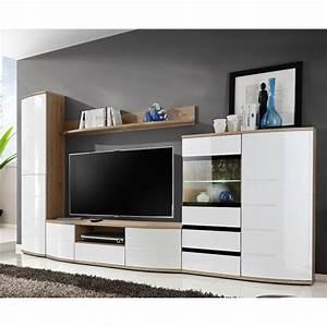 Meuble De Tele Design : meuble tv design ontario 300cm blanc ~ Teatrodelosmanantiales.com Idées de Décoration