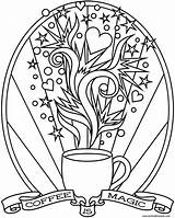 Coffee Starbucks Coloring Pages Print Magic Printable Colouring Adult Donteatthepaste Cup Heart Colour Books Paper Getcolorings Cartoon Version Templates Quote sketch template