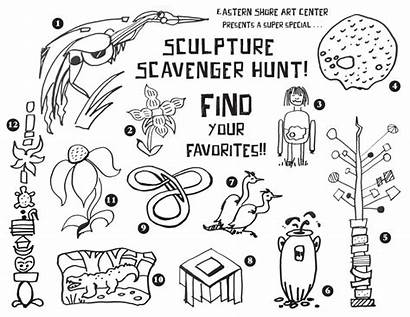 Scavenger Hunt Coloring Pages Sculpture Outdoor Printable