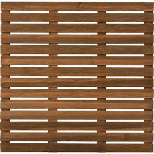 dalle pin sylvestre 100 x 100 x 28 brun With dalle terrasse bois 100x100