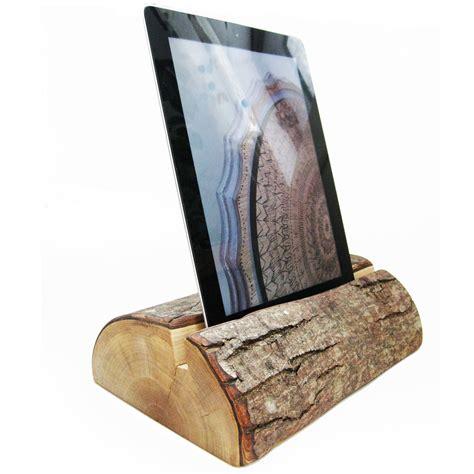 tablet stand heavy  log ipad holder
