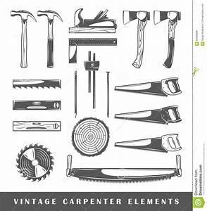 Vintage Carpenter Elements Stock Vector - Image: 59580896