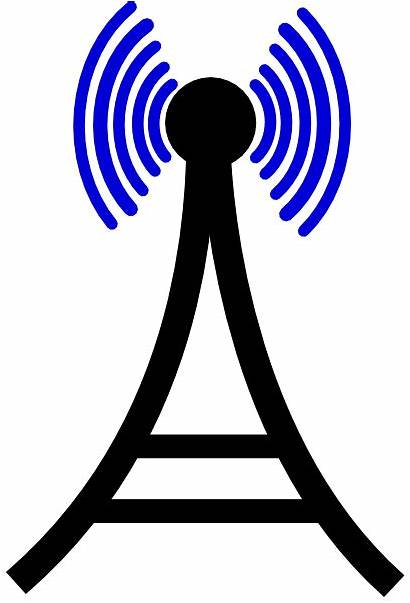 Tower Cell Clipart Phone Broadcasting Radio Clip